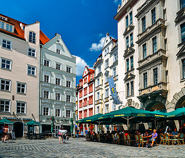 Traditional Bavarian architecture in Munich, Germany