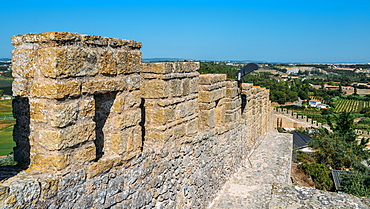 Castle Ramparts at Castelo de Obidos, Oeste, Leiria District, Portugal, Europe