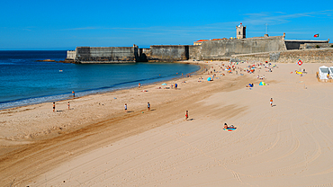 Torre Beach in Carcavelos, Lisbon region, Costa Verde, Portuguese Riviera, Portugal, Europe - 1243-372