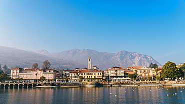 Bavelo, overlooking Lake Maggiore, and the foothills of the Italian Alps, Piedmont, Italian Lakes, Italy, Europe