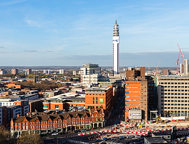 Panorama of Birmingham, England, United Kingdom, Europe