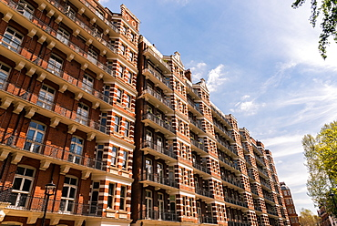 Traditional red brick British style flats in Victoria, London, England, United Kingdom, Europe