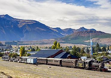 Old Patagonian Express La Trochita, steam train, Esquel Train Station, Chubut Province, Patagonia, Argentina, South America