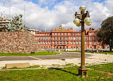 View of the Casa Rosada on Plaza de Mayo, Monserrat, City of Buenos Aires, Buenos Aires Province, Argentina, South America