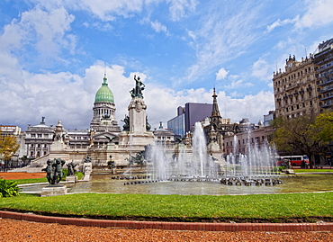 Plaza del Congreso, view of the Palace of the Argentine National Congress, City of Buenos Aires, Buenos Aires Province, Argentina, South America
