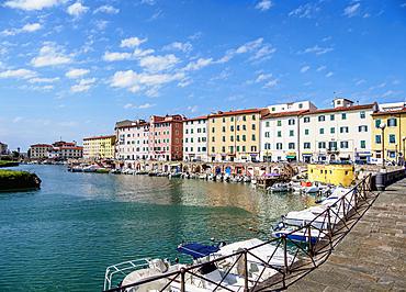 Canal in Venezia Nuova, Livorno, Tuscany, Italy, Europe