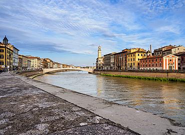 Arno River, Pisa, Tuscany, Italy, Europe