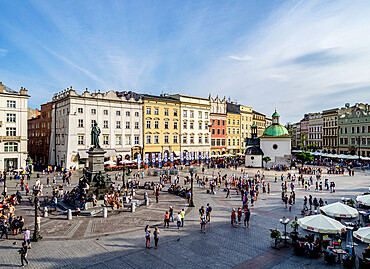 Old Town Market Square, elevated view, Cracow, Lesser Poland Voivodeship, Poland