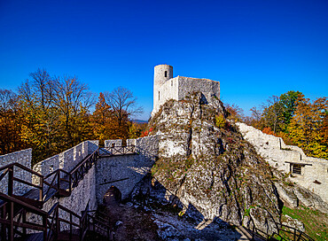 Pilcza Castle Ruins, Smolen, Trail of the Eagles' Nests, Krakow-Czestochowa Upland or Polish Jura, Silesian Voivodeship, Poland