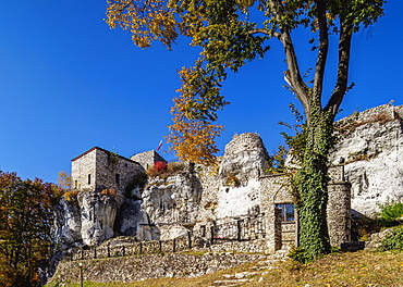 Bakowiec Castle in Morsko, Trail of the Eagles' Nests, Krakow-Czestochowa Upland (Polish Jura), Silesian Voivodeship, Poland, Europe