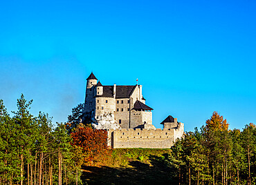 Bobolice Royal Castle, Trail of the Eagles' Nests, Krakow-Czestochowa Upland or Polish Jura, Silesian Voivodeship, Poland