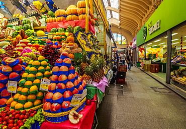 Interior view of the Mercado Municipal, City of Sao Paulo, State of Sao Paulo, Brazil, South America