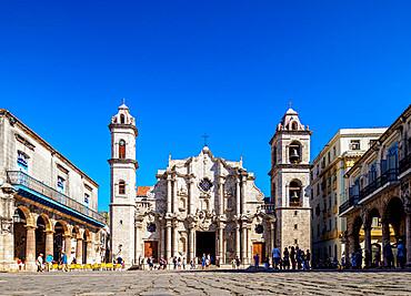 Cathedral of San Cristobal, Plaza de la Catedral, La Habana Vieja, UNESCO World Heritage Site, Havana, La Habana Province, Cuba, West Indies, Caribbean, Central America