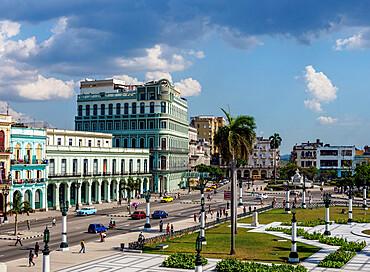 Paseo del Prado (Paseo de Marti), elevated view, Havana, La Habana Province, Cuba, West Indies, Caribbean, Central America