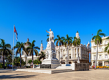 Parque Central (Central Park), La Habana Vieja, Havana, La Habana Province, Cuba, West Indies, Caribbean, Central America