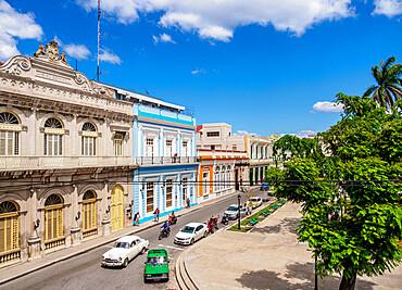 Casino Espanol and Libertad Square, elevated view, Matanzas, Matanzas Province, Cuba, West Indies, Caribbean, Central America