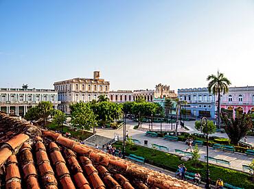 Serafin Sanchez Park, elevated view, Sancti Spiritus, Sancti Spiritus Province, Cuba, West Indies, Caribbean, Central America