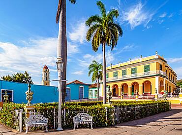Brunet Palace, Plaza Mayor, Trinidad, UNESCO World Heritage Site, Sancti Spiritus Province, Cuba, West Indies, Caribbean, Central America
