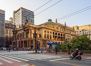 View of the Municipal Theatre, City of Sao Paulo, State of Sao Paulo, Brazil, South America