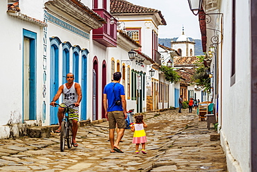View of the Old Town, Paraty, State of Rio de Janeiro, Brazil, South America