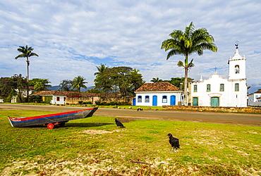 View of the Nossa Senhora das Dores Church, Paraty, State of Rio de Janeiro, Brazil, South America