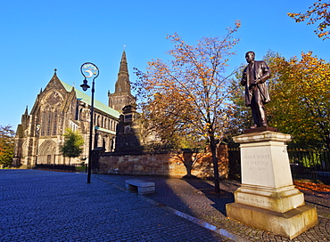 View of the The Cathedral of St. Mungo, Glasgow, Scotland, United Kingdom, Europe
