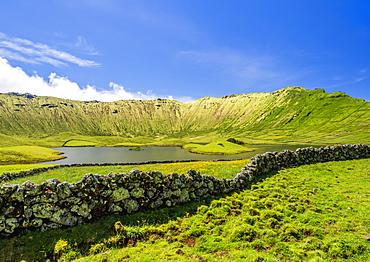 Landscape of the Caldeirao do Corvo, Corvo, Azores, Portugal, Atlantic, Europe