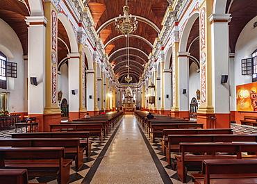 Cathedral Basilica of St. Lawrence, interior, Santa Cruz de la Sierra, Bolivia, South America