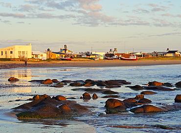 Beach at sunrise, Cabo Polonio, Rocha Department, Uruguay, South America