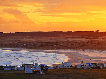 Elevated view of the Cabo Polonio at sunset, Rocha Department, Uruguay, South America
