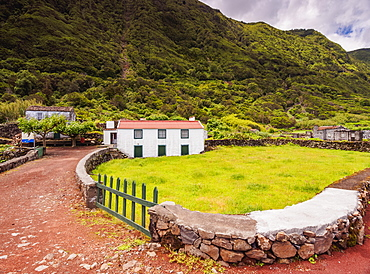 Typical architecture, Sao Jorge Island, Azores, Portugal, Europe