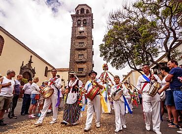 Romeria de San Benito de Abad, traditional street party in San Cristobal de La Laguna, Tenerife Island, Canary Islands, Spain, Europe