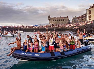 Embarcacion de la Virgen del Carmen, water procession, Puerto de la Cruz, Tenerife Island, Canary Islands, Spain, Atlantic, Europe