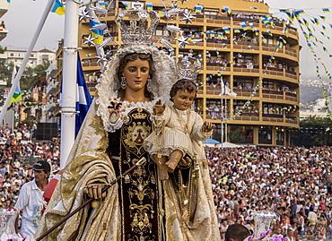 Embarcacion de la Virgen del Carmen, water procession, Puerto de la Cruz, Tenerife Island, Canary Islands, Spain, Europe