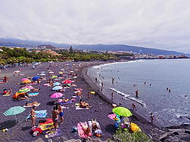 Beach in Puerto de la Cruz, Tenerife Island, Canary Islands, Spain, Atlantic, Europe