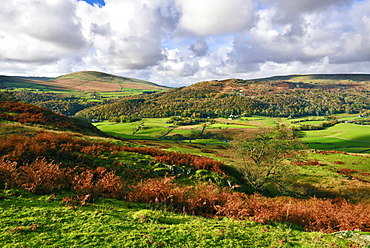 An autumn view of the scenic Duddon Valley, Lake District National Park, Cumbria, England, United Kingdom, Europe - 1246-2