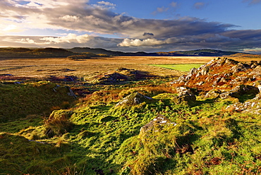 A winter view looking across Moine Mhor Nature Reserve from Dunadd Fort in the Scottish Highlands, Argyll, Scotland, United Kingdom, Europe - 1246-41