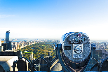 The viewing platform overlooking Central Park from the Rockefeller Tower, New York City, United States of America, North America