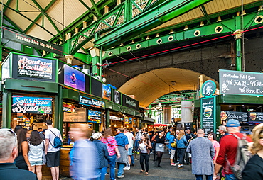 Borough Market is bustling with shoppers, Southwark, London Bridge, London, England, United Kingdom, Europe