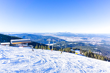 Borovets Ski Resort, top of of Yastrebetz Express chairlift, Bulgaria, Europe