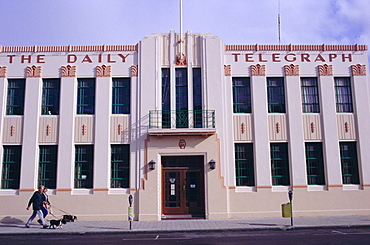 The Daily Telegraph Building, Art Deco capital (1930s), Napier, Hawkes Bay, North Island, New Zealand, Pacific