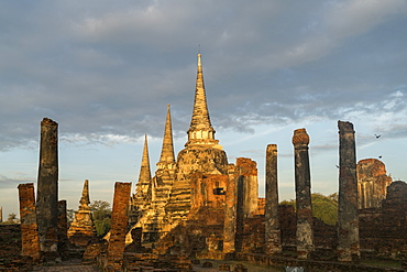 The three Chedis of the old Royal Palace, Wat Phra Si Sanphet, Ayutthaya Historical Park, UNESCO World Heritage Site, Thailand, Southeast Asia, Asia