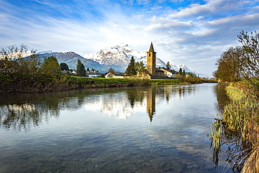 The church of Sils-Baselgia in Lower Engadine, Switzerland, Europe