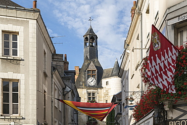 The clock tower, Amboise, Indre-et-Loire, Loire Valley, Centre, France, Europe