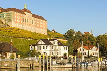 Houses and town winery, Meersburg, Baden-Wurttemberg, Germany, Europe