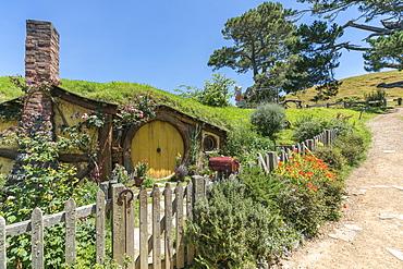 Samwise Gamgee's house, Hobbiton Movie Set, Matamata, Waikato region, North Island, New Zealand, Pacific