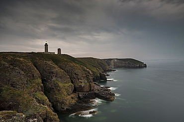 Cap Frehel point and its lighthouses. Plevenon, Cotes-d'Armor, Brittany, France, Europe