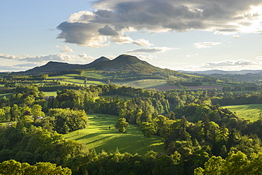 The Eildon Hills in the Scottish Borders, photographed from Scott's View at Bemersyde, Scotland, United Kingdom, Europe - 1255-20