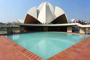 The Bahai Lotus Temple, serving as the Mother Temple of the Indian Subcontinent, New Delhi, India, Asia