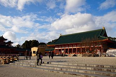 The Heian Jingu Shrine of Sakyo-ku, Kyoto, Japan, Asia